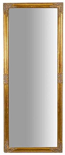 Biscottini Specchio Lungo da Parete 180 x 72 x 3 cm Made in Italy   Specchio Shabby   Specchio da Parete Dorato   Specchio Rettangolare da Parete