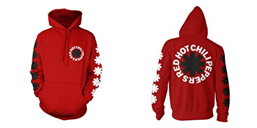 Red Hot Chili Peppers Classic Logo Hombre Sudadera con Capucha Rojo M