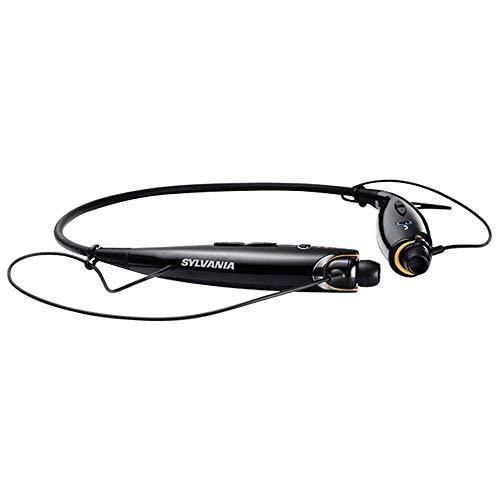 Sylvania SBT129-C-BLACK Sports Style Bluetooth Headphones Black (Certified Refurbished)