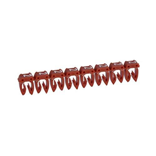 Marcador para cableado de 0,5 a 1,5 mm² n°2, color rojo, 18,7 x 6,5 x 3,2 centímetros (referencia: Legrand 38212)