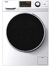 Haier HWD90-BP14636-S - Lavadora secadora 9 kgs + 6 kgs secado, 1400rpm, Motor Inverter, ABT Antibacterias, Libre instalación, Clase A