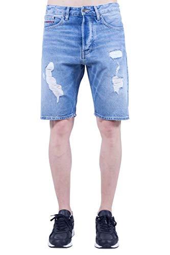 Tommy Jeans Uomo - Bermuda in Jeans Baggy Con Strappi - Taglia 32