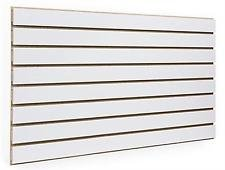 White Slatwall Panels 24'H x 48'L (Set of 2 Panels)
