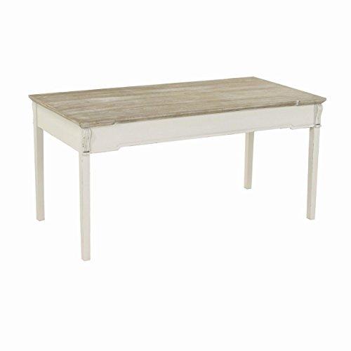 Vacchetti Giuseppe 8028230000 Table Provence, rectangulaire, Bois, Blanc, 160 x 80 x 80 cm
