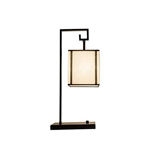 MISS KANG Lámpara de mesa retro, lámpara de mesa creativa E14 ahorro de energía protección ocular luz noche hierro pintura cuadrado lámpara, usado ForAnt. Qingchunw