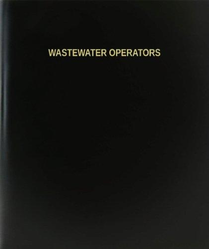 BookFactory® Wastewater Operators Log Book / Journal / Logbook - 120 Page, 8.5'x11', Black Hardbound (XLog-120-7CS-A-L-Black(Wastewater Operators Log Book))