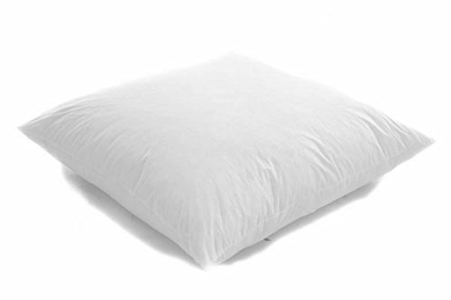 White Duck Feather Cushion Pad Inner Insert - 100% Natural Cotton Anti Dust Mite And Down Machine Washable (18' x 18' (45cm x 45cm)
