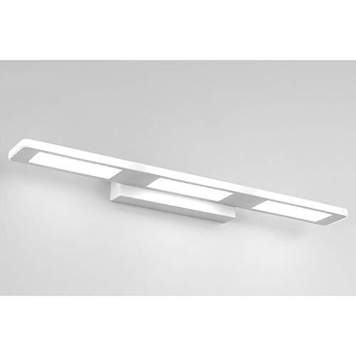 Spiegelfrontlicht Einfache Badezimmer-Toiletten Led-Spiegelfrontlicht Feuchtigkeitsfeste Spiegelscheinwerfer Einfache Mode Schlafzimmer Wandleuchte Kommode Spiegel, BOSS LV, Weißes Licht-37cm