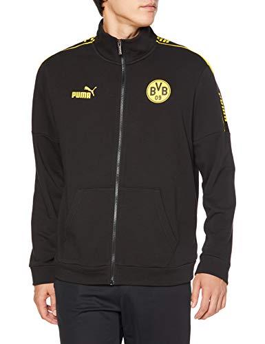 PUMA Herren BVB ftblCulture Track JKT Pullover, Black-Cyber Yellow, L
