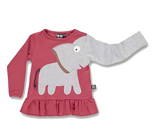 UBANG Shirt Longsleeve Tunika Elefant Frill Faded Rose Gr. 116 128