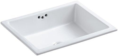 KOHLER K-2330-0 Kathryn Under-Mount Bathroom Sink, White