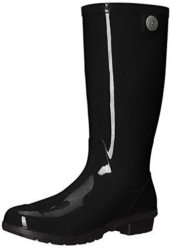 UGG Women's Shaye Rain Boot, Black, 8 B US