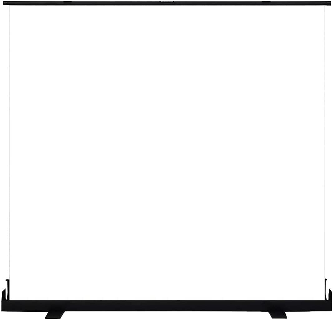 HUALUDA Projection Screen Floor Pull Manual Screen, Home HD Projector Screen Cloth Anti Light Curtain, Outdoor Mobile Portable Avoid Punching (Size : 120 inch)