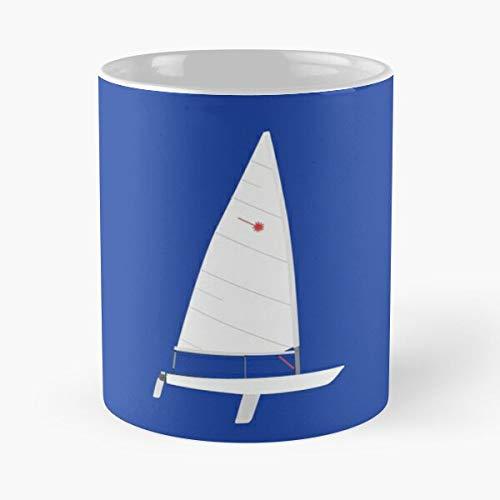 Laser Sailboat Classic Mug - Gift The Office 11 Ounces Funny White Coffee Mugs-nilinkep