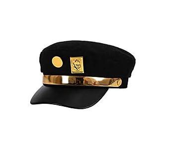 Teens Jotaro Cosplay Visored Baseball Cap Hat Props  Golden