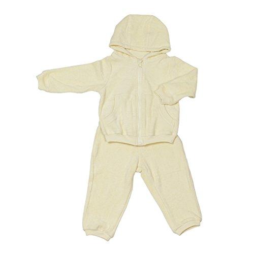 Kinder- und Baby-Sweatsuit Mädchen & Jungen | 100% GOTS-zertifizierte Bio-Baumwolle | kuschelweich für empfindliche Baby-Haut | Fair-Trade: Qualitäts-Produktion in der EU | Gelb, Größe: 68