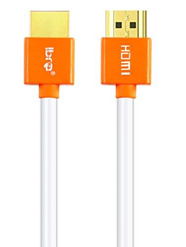 IBRA 1M Slim Cable de HDMI de Ultra Alta Velocidad Cable de 18Gb/s HDMI 2.0b Soporte 4K@60Hz Fire TV, Ethernet, Retorno de Audio,Video UHD 2160p,HD 1080p,3D, Xbox Playstation PS3 PS4 PC