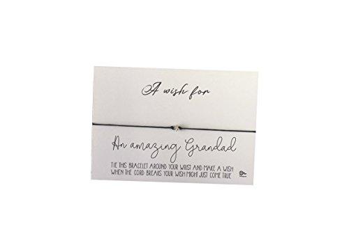 Dios Designs Simple Wish Bracelet - A Wish for an Amazing Grandad DD776
