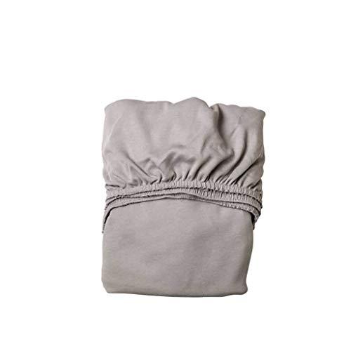 Leander Doppelpack Weiches Jersey-Bettlaken für Babybett (Hellgrau)
