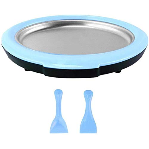 ADDFOO Gelatiera Arrotolata - Vaschetta Istantanea per Gelatiere con 2 Spatole, Gelatina Rotonda Sweet Spot per Bambini Blu