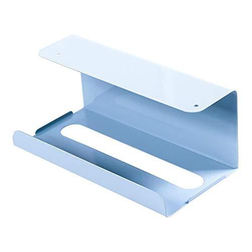 YQWFF Papel toallero de Cocina de Papel toallero Taladro Durable Reutilizable hogar Azul