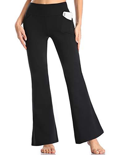 MOVE BEYOND Pantalones de Yoga para Mujer de con 4 Bolsillos Pantalón de Pilates de Cintura Alta Yoga Gimnasio Running Training