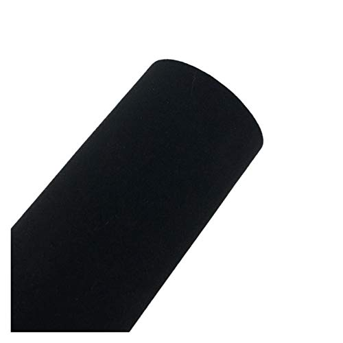 Carbon Folie 30 * 152cm Suede Fabric Material Auto Verpackung Aufkleber Selbstklebefolie, verwendet for Auto Innen- / Außen Car Styling Folie Auto (Color Name : Black)