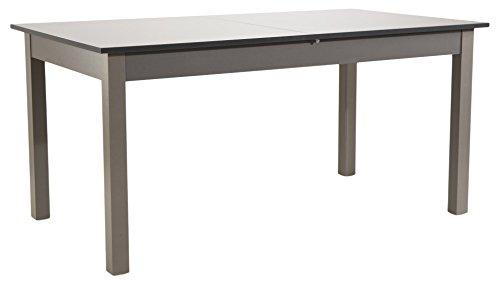 Soliving NORDEN Table Extensible Plateau, Gris, 200 x 90 x 76.5 cm