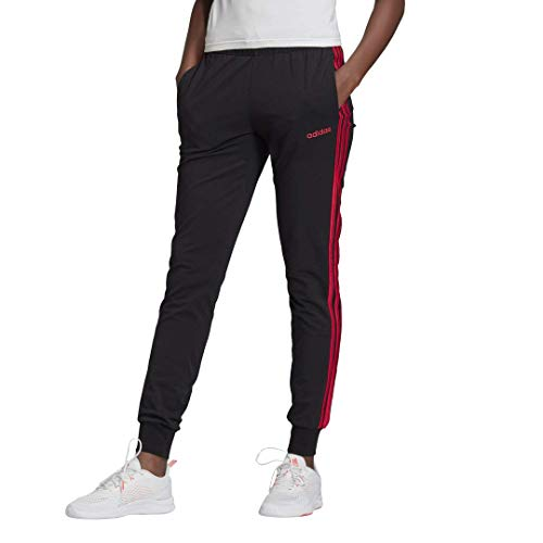 adidas Damen Essentials 3-Streifen Single Pants, Damen, Hose, 26171, Schwarz, 1 Stück