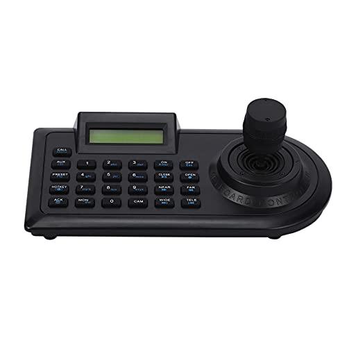 CareMont 4D 4 Ejes Ptz Palanca de Mando Ptz Controlador de Teclado Rs485 Pelco-D/P con Pantalla LCD para Cámara Ptz de Cúpula de Velocidad CCTV de Seguridad Analógica