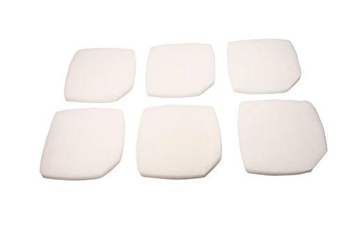 LTWHOME Weißer Feiner Filterschwamm Passend für Eheim Professional 3e 2076/2078/450/700/600T(6 Stück)