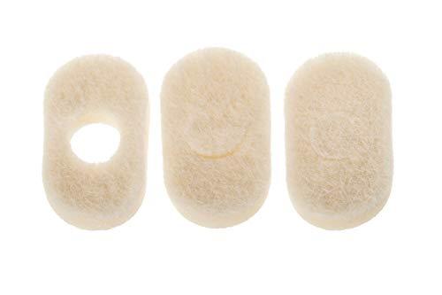 "White Orthopedic Corn Pedi Pads - Value 100 Pack (1 3/8"" x 3/4"") Adhesive Corn, Callus and Bruise Padding"