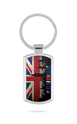 Schlüsselanhänger mit Gravur Wunschtext Name England London UK 1