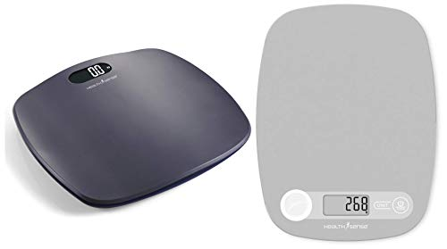 HealthSense Ultra-Lite PS 126 Digital Personal Body Weight Scale with STEP-On Technology (Grey) & HealthSense Chef-Mate KS40...