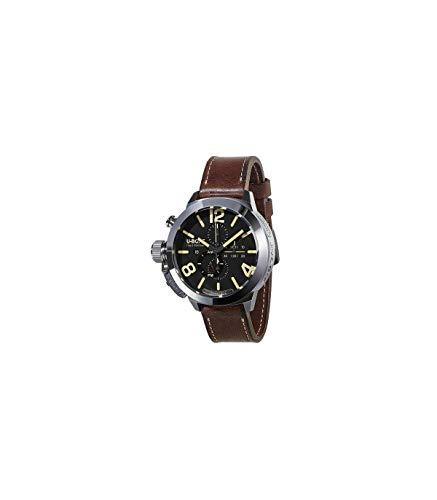 U-Boat Classico Automatik Uhr, Edelstahl 316L , Schwarz, 50mm, Chronograph, 8077