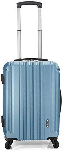 Maleta DE 70 CM Color Azul Claro Fabricada EN Material DE ABS con 4 Ruedas MULTIDIRECCION