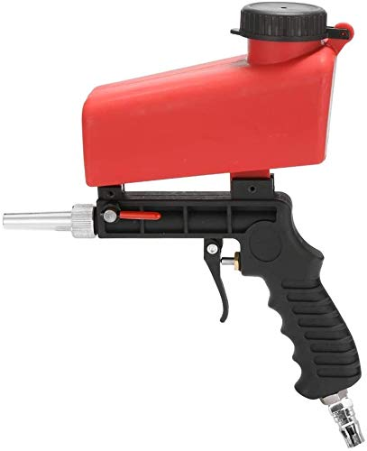 Review Sand blasting gun Portable Home DIY Mini Blasting Device 90psi Sandblaster Antirust Adjustabl...