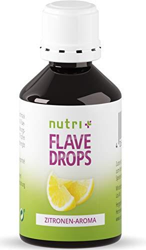 Flave Drops Zitrone 50ml - zero calorie sweets - Geschmackstropfen - Lemon Flavor Drop Vegan - Zitronenaroma ohne Zucker & Kalorien - Aromatropfen - MHD 10/2020