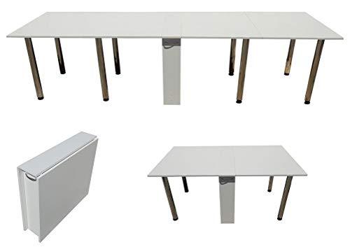Klapptisch Weiß 650- Klappbarer Tisch - Cкладной Cтол- Книжка Тумба 3 Meter (Tisch Klappbar Mit 8 Tischfüßen)