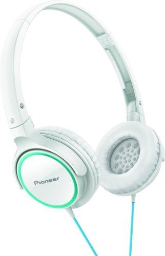 Pioneer SE-MJ512-GW Fully Enclosed Dynamic Headphone - White/Green