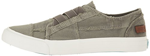 Blowfish Malibu Women's Marley Fashion Sneaker, Steel Grey Color Washed Canvas, 7.5 Medium US