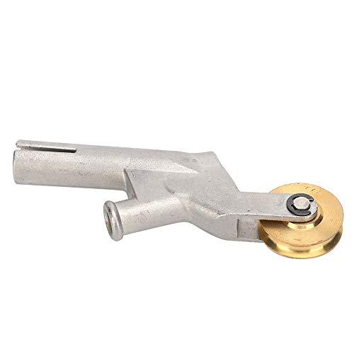 ローラー付き熱風溶接ガン溶接ノズル、304ステンレス鋼合金スピード溶接ノズル3mm/4mm/5mm溶接ワイヤーに適した交換用ヒートガンチップ、5mm標準溶接チップ