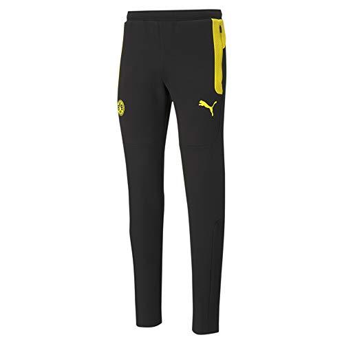 PUMA BVB Evostripe Herren Fußball-Trainingshose Cyber Yellow-Puma Black L