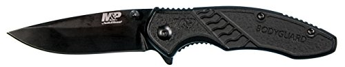 Smith & Wesson M&P Bodyguard 6.5in Stainless Steel Folding Knife with 2.75in Clip Point Blade and Nylon Handle for Outdoor, Tactical, Survival and EDC, Multicolor