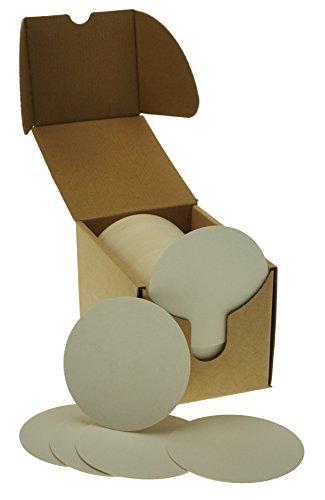 ZEZAZU Posavasos redondos de papel blanco pesado de 9 cm (caja de 125) para bebidas, proyectos de manualidades, papel de prensa, diseños de azulejos zen y mini tablero de arte