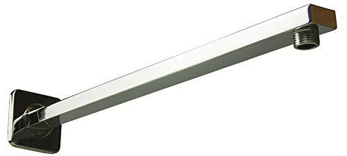 Brausearm 16 zoll Quadratisch, TeamTech Wandarm Duscharm fur Regenduschkopf, Wandmontage Duschkopf Arm 40 cm Messing Verchromt