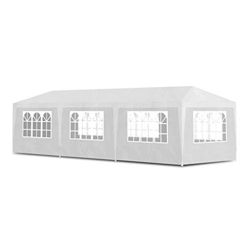 vidaXL Partyzelt 3x9m Weiß Gartenzelt Zelt Festzelt Bierzelt Pavillon Garten