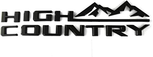 Weekeight 1pcs matte black Country Namteplate Emblem 3D Badge Fender Rear Tailgate Sticker Replacement for Silverado Sierra (black)