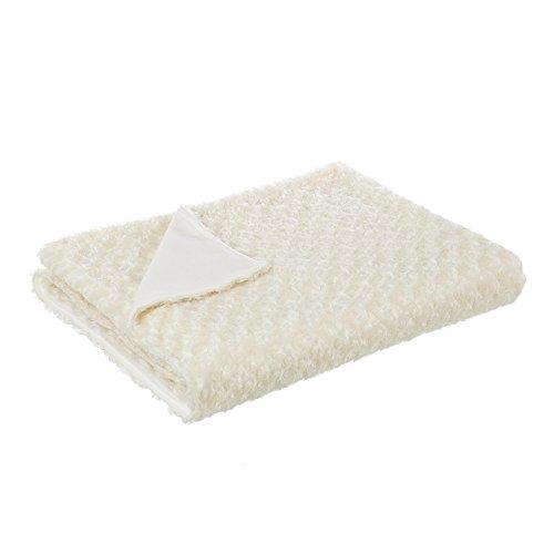 Plaid para pie de cama romántico beige de poliéster para dormitorio France - Lola Derek