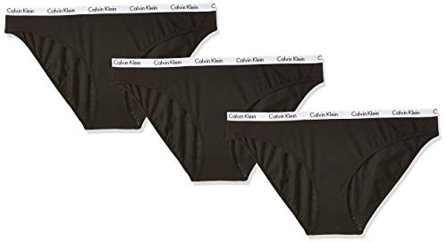 Calvin Klein Damen Bikini 3PK Panties, Schwarz (Black 001), M
